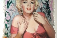 Marilyn Monroe,80x108 cm,õli, akrüül, lõuend2019