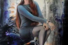 Naine allikal,75x111 cm,lõuend, õli2018