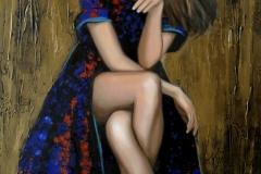 Naine,120x70 cm,õli, akrüül, lõuend2019