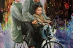 Perekond,120x80 cm,,õli, akrüül, lõuend2019