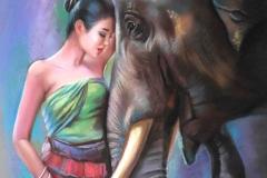 Elevandi unistus,60x50 cm,pastell, paber2020