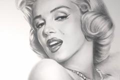 Merilyn Monroe,50x70 cm,paber, kuiv pintsel2020