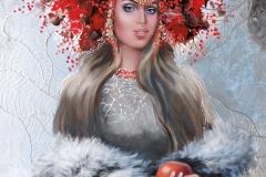 Elisaveta,60x90 cm,õli, krüül, lõuend2019