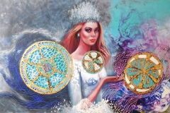 Ariel,120x80 cm,õli, krüül, lõuend2019