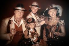 Family portrait, canvas