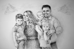 Family portrait, paper