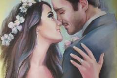 Romance, 58x78 cm, pastell, paber 2020