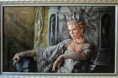 Charlize Theron filmis Snow White and the Huntsman, 60x100 cm, õli, lõuend 2018