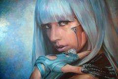 Lady Gaga; 120x82 cm; akrüül, lõuend; 2011