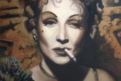 Marlene Dietrich, 80x110 cm, akrüül, lõuend 2011