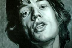 Mick Jagger; 82x104 cm; akrüül, lõuend; 2011