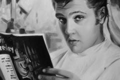 Elvis Presley, 100x60 cm, lõuend, õli2018