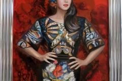 Monica Bellucci Fashion, 60x90 cm, õli, akrüül, lõuend2019