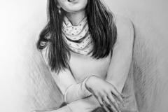 Ursula Magdaleena, 70x50 cm, paber, kuiv pintsel 2017