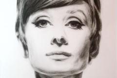 Audrey Hepburn,50x70 cm,paber, kuiiv pintsel2011