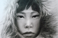 Eskimo poiss,50x70 cm,kuiv pintsel, paber2012