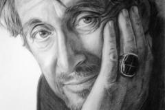 Al Pacino, 50x70 cmpaber, kuiiv pintsel2014