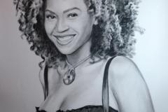 Beyonce; 70x100 cm; kuiv pintsel, paber; 2013