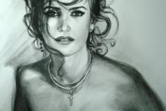 Penelope Cruz 50x70 cm; kuiv pintsel, paber; 2013