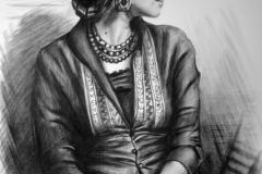 Katerina,65x80 cm,kuiv pintsel, paber2015