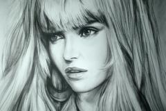 Moekas naine,50x70 cm,kuiv pintsel, paber2013