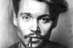 Johnny Depp,50x70 cm,kuiv pintsel, paber2013