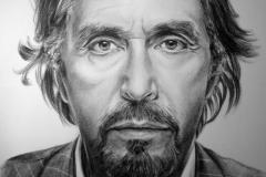 Al Pacino; 50x70 cm; kuiv pintsel, paber; 2013