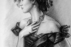 Näitleja Keira Knightley,37x45 cm,kuiv pintsel, paber2016