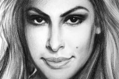 Eva Mendes, 50x70 cm, paber, kuiv pintsel 2012
