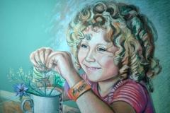 Laps ja taim,60x80 cm,paber, pastell2014