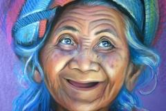 Rõõmus vanaema,50x70 cm,kuiv pintsel, paber2014