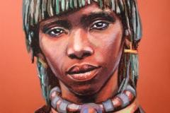 Afriklanna,50x70 cm,pastell, paber2013