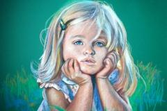 Vaikija, 50x70 cm, pastell, paber2012