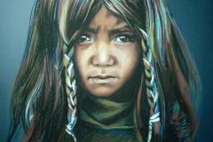 Shamaanike, 50x70 cm,pastell, paber2013