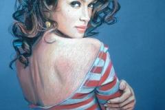 Naine, 50x70 cm,pastell, paber2013