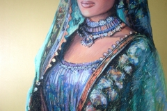Kuninganna, 66x96 cm, paber, pastell 2013