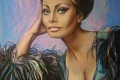 Sophia Loren,60x90 cm, pastell, paber2016