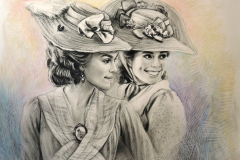 Keira Knightley filmis, 60x90 cm, paber, sega tehnika2017Prices  920.€