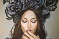 Monica Bellucci Fashion, 50x65 cm,  pastell, paber 2018 Prices  1000.-€
