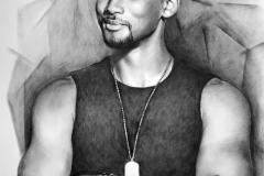 Will Smith, 70x100 cm, paber, kuiiv pintsel2018 Prices 700.-€