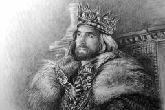 Kuningas,50x70 cm,paber, kuiiv pintsel2018 Prices 450.-€