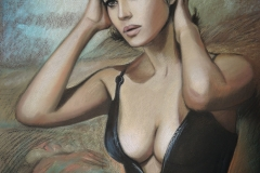 Monica Bellucci, 50x70 cm,paber, pastell2018 Prices 520.-€