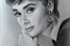 Audrey Hepburn,40x50 cm,kuiv pintsel, paber2010Prices  340.-€