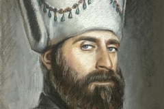 Sultan Suleyman,34x60 cm,paber, pastell 2017 Prices 560.-€