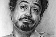 Robert Downey Jr, 50x70 cm, kuiv pintsel, paber2016 Prices 490.-€