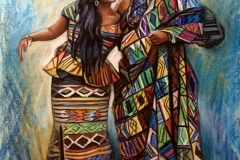 Aafrika rahvuslik paar, 60x90 cm, pastell, paber2016Prices 720.-€