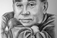 Näitleja Mikhail Svetin,  50x70 cm,kuiv pintsel, paber 2016     Prices  480.-€