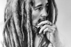 Robert Nesta Marley,50X70 cm,kuiv pintsel, paber2020