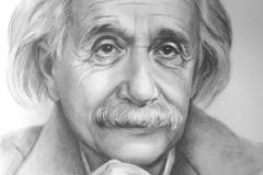 A.Einstein, 50x70 cm,kuiv pintsel, paber2020
