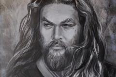 Jason Momoa, 60x80 cm, akrüül, lõuend 2020